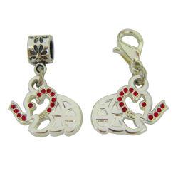 El encanto de joyería personalizada de aleación de zinc del alfabeto letra colgante, collar de plata, la artesanía (encanto-13)
