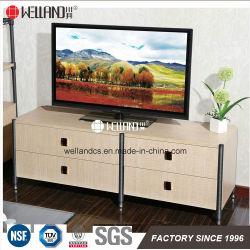 Novo design do mobiliário Steel-Wooden para armazenamento de TV e monitor