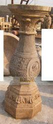 中国の工場は直接小さい屋外の旧式な石造りの柱を販売する