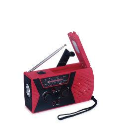 Melhor sobrevida de Emergência Rádio Solar Weather Manivela Dínamo lanterna para Smartphone Carregador e leitura lâmpada LED