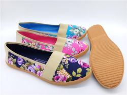 Alta Qualidade as mulheres de injecção sapatos de lona Conforto Calçados casual (PSF7905-6)
