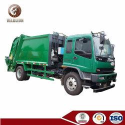 Isuzu Ftr 8-10 metros cúbicos de basura Cargador lateral de la luz de la carretilla caliente de Venta de vehículos de recolección de residuos en Africa