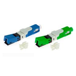 FTTH Council SC/APC ficha rápida conector mecânico de fibra ótica SC
