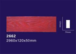 Límite de Peso Ligero de poliuretano decorativos imitación de madera transversal con el diseño de grano de madera