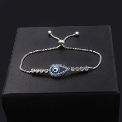 Mode bijoux 925 Sterling Silver ou en laiton Devil yeux Bracelet Bracelet Bracelet en émail Zircon cubique