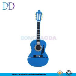 O PVC criativos personalizados violino instrumento musical de guitarra Shape U Disk