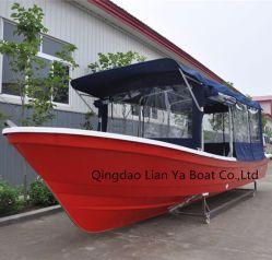 Liya 25pieds bateaux de pêche en fibre de verre de gros bateaux de vitesse