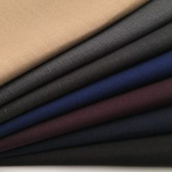 Tessile molle tessuta del tessuto del vestito dalla camicia della saia del tessuto del tessuto di rayon del poliestere T/R 75/25