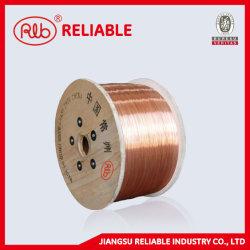 Alambre de acero revestido de cobre (que es utilizado como el plomo y el cable de componentes electrónicos, transportando wirefor railroad y cable para transmisión de potencia)
