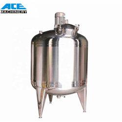 Ace 100-1000l de leche depósito mezclador doble depósito mezclador de acero inoxidable revestido de leche