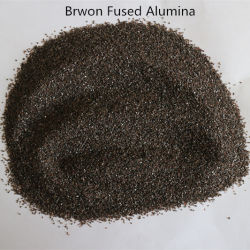 Bruine Gesmolten Alumina voor de Vuurvaste Schuurmiddelen van het Zandstralen