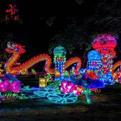 Neues Jahr-Festival-Dekoration-Gewebe-traditioneller Chinese-Drache-Laterne