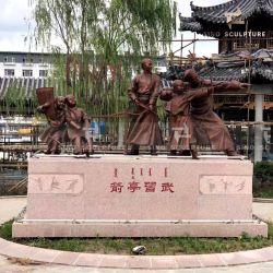 中国の古代文化の青銅色の彫像