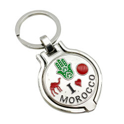Marrocos Loja Chaveiro de Metal Mini Photo Frame Chaveiro de liga de zinco