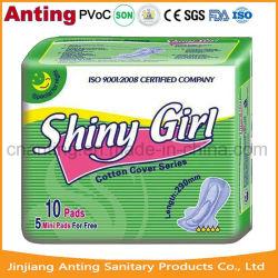 Tovaglioli sanitari eccellenti del cotone assorbente 280mm, mini rilievo per le donne