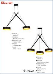 Gabinete de alumínio preto Lâmpada Pendente / TRAVANDO iluminação para sala de jantar