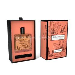 El cartón de tamaño personalizado Corredera deslizante Perfume Caja con estampado de lámina y la protección de insertar