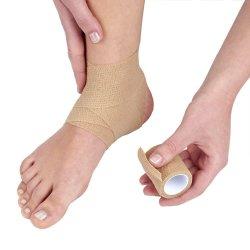 손목을%s 각자 부착한 점착력이 있는 테이프, 강한 스포츠 테이프, 발목 삠 & 팽윤 의 자동 접착 붕대 Rolls 의 승인되는 FDA, 분류된 색깔