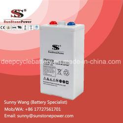 2V 250Ah SMF à cycle profond Batterie au gel de plomb-acide accumulateur solaire