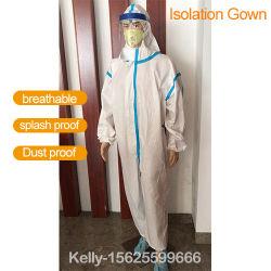 Vestido de isolamento médicos descartáveis de vestuário de protecção