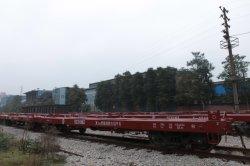 flacher Lastwagen der Bahnfracht-70t für Behälter-Transport-Behälter-Lastwagen