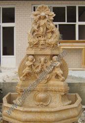 천사 아이들 동상 (SY-F153)를 가진 조상 돌 대리석 벽 분수