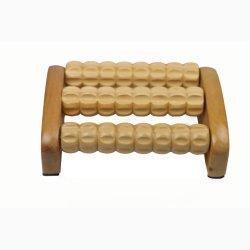 3 Pé de madeira de rolagem e o corpo Material Massagem