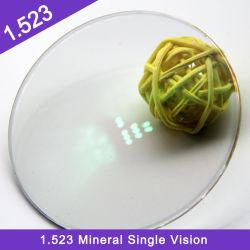 Comercio al por mayor 1.523 Semi-Finished Blanco Mineral sola Vison Hmc Óptica