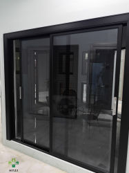 Windows와 문 접히는 스크린을 접히는 방음 표준 크기 유리제 단면도 알루미늄 이중 Windows 및 문