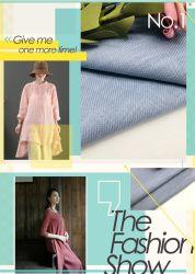 Mezcla de algodón Sarga Slub ramio Full-Process traje tejido teñido Trousours
