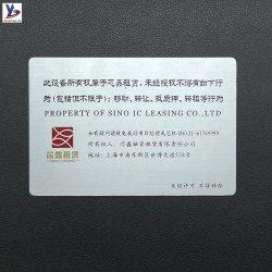 옥외 실내 사용 3m 접착제를 가진 경고 금속 명찰