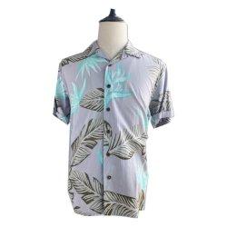 하와이 인쇄 남자의 레이온에 의하여 길쌈되는 셔츠