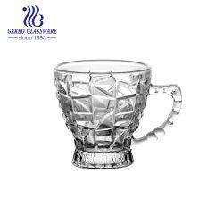 7oz het Water van de espresso van koffie van het Handvat van de Koffie van de Kop van de Mok van de Thee van het Glas van de Stijl van het Midden-Oosten van de Pers van het Glas de Kleine (GB096007Y)