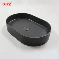 Le béton gris Surface solide Table Top Lavabo Salle de Bain lavabo