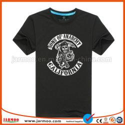 Ronda personalizada/V pescoço masculina de poliéster T shirts sublimação de tinta seca rápido desgaste do desporto de algodão de manga curta camisa Polo Serigrafia T Shirt