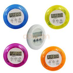Venda por grosso eletrônica digital colorida cozinha magnético forma redonda com timer
