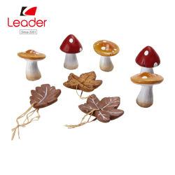 요전같은 정원 모형을%s 8 테라코타 버섯의 매력적인 세트