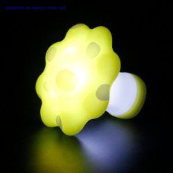 Tabla de molde de plástico de colores RGB LED de iluminación LED Luz de noche con Lampshape Silicona suave para el bebé niños dormitorio