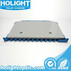 De plástico ABS de fibra óptica de 12 puertos de la bandeja de empalme de la ODF