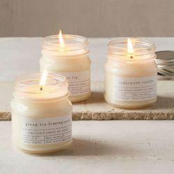 Mini piccoli supporti di candela di vetro per la decorazione di natale
