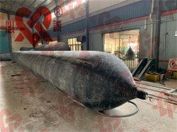 膨脹可能な海洋のエアバッグを持ち上げ、進水させる船