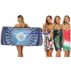 Avental de praia toalha de praia vestíveis saia da cintagem por rede de captação de água para uma secagem rápida mulheres Flower Toalha de banho