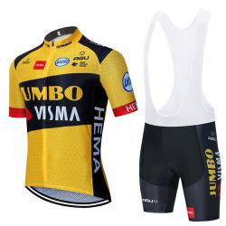 2020 Jumbo Visma ركوب الدراجات Jersey قصيرة الأكمام ركوب الدراجة الهوائية 12d ملابس دراجة قصيرة [تب] دراجة لباس [روبا] [سيسلنس] [ميللوت] دراجة لباس
