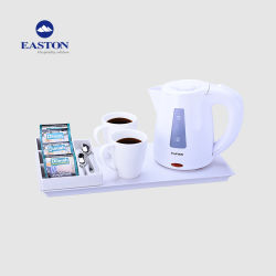 5-Sterren Ivory Welcome Trays Electric Water Hotel Kettle Set