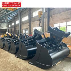 Accessoire hydraulique excavatrice prix d'usine creuser avec inclinaison de godet rotatif