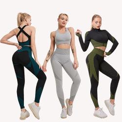 Qualitäts-Frauen-weibliche aktive Kleidung plus Größen-Eignung-Gymnastik-Abnützung-Sport-Abnützung-hohe Taillen-Yoga-Hose-Yoga-Abnützung
