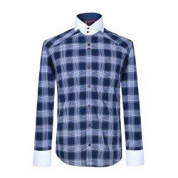 Peça de vestuário de moda de manga longa 100% algodão Homens vestem a camisa de retenção