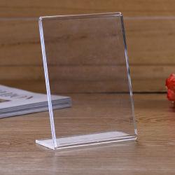 Inclinado para Trás no Menu de acrílico Titular - 8,5 x 11 polegadas Retrato Premium quadros ad, sinal de mesa Exibir Titular, limpar a estrutura de estilo de cavalete, Titular da brochura de plástico
