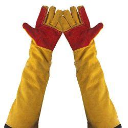 24 pouces Long Sleeves Cut-Proof supplémentaire du travail de soudage en cuir des gants de travail résistant à la chaleur extrême épaissir protéger cheminée Gants de jardinage