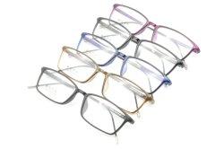 De fabriek verkoopt de Super Lichte Halve Plastic Frames van Eyewear van de Oogglazen van de Manier van het Staal Nieuwe Optische